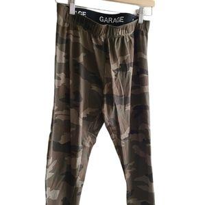 2/22 Garage Green Camo leggings-Size Large